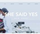 website modern wedding invitation